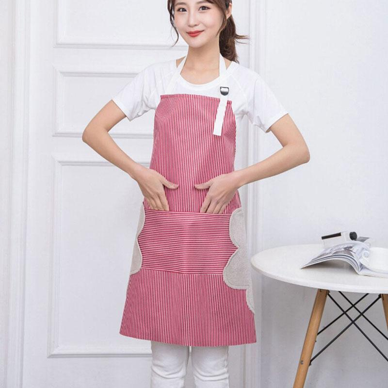 Nouvelle antifouling peut effacer les mains tablier femme bousous pour adultes à la maison cuisson cuisson cuisson café ajustable nettoyage tablier outil cuisine