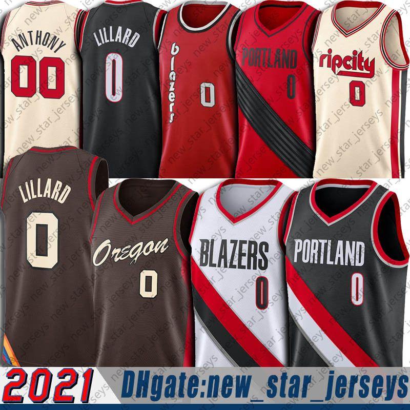 Damian 0 Lillard Jersey Carmelo 00 Anthony Formalar 2021 Şehir Basketbol Formaları Weber Eyalet Üniversitesi Jersey