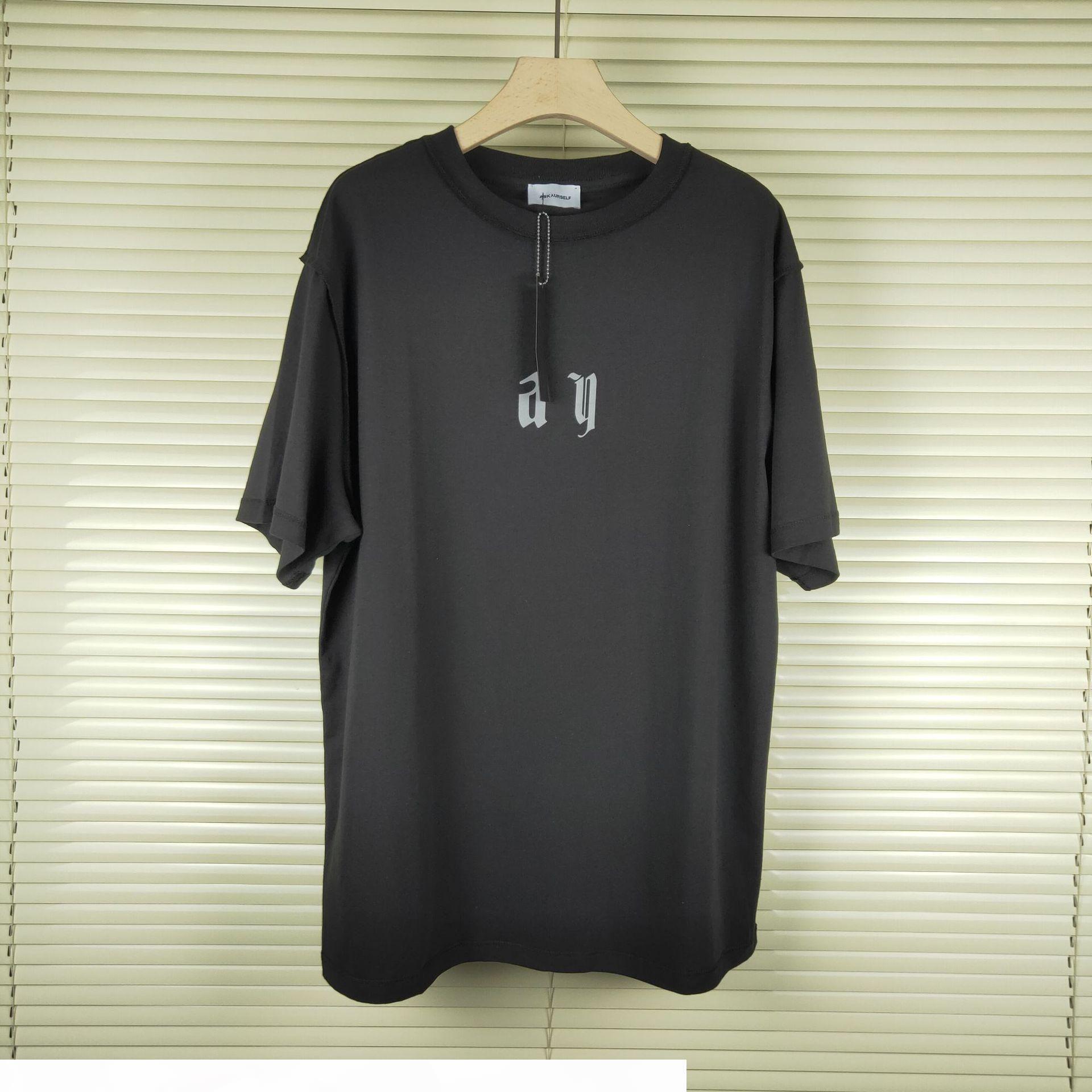 Mens Tshirt Reflective High Street Street manica corta Collo girocollo stampa Moda Solid Tshirt Taglia S-XL