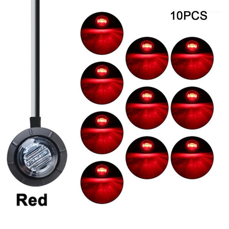"""10 pcs à prova d'água 3led 3/4 """"Redondo Reboque Reboque Marcador Luzes Luzes Branco Amarelo Vermelho Para Caminhões Luzes de Luzes Lâmpadas de Caminhão Lamp1"""