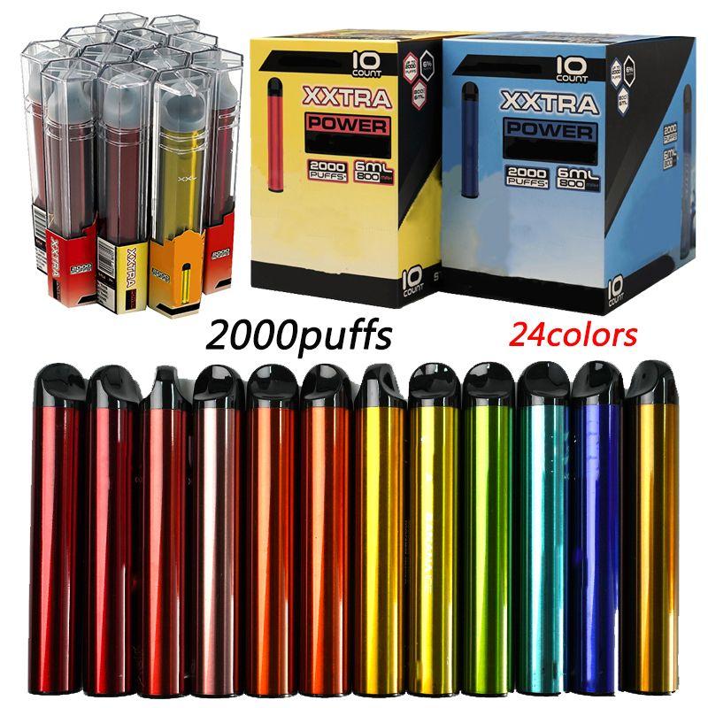 Bang XXL XXTRA Penne monouso VAPE e sigarette Pods pre-riempiti Pods 6.0ml Capacità vuota Banggxxl 800mAh Battery Starter Kit 2000Puffs
