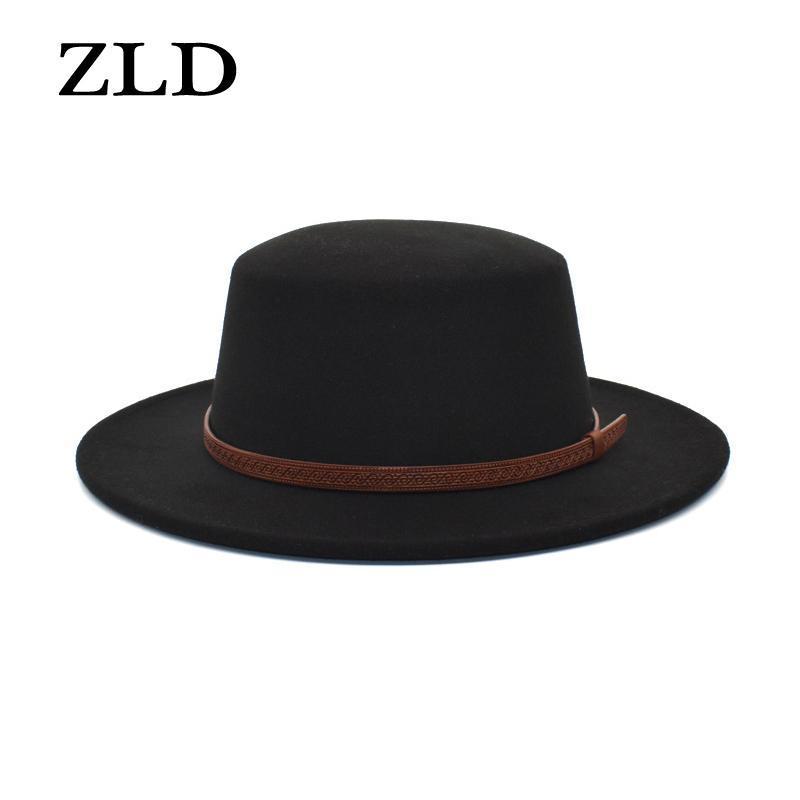 Широкие шляпы Breim Hats ZLD Fashion Fedoras Hat Man Women Classice старинные господа джаз вскользь дамы ковбойская крышка на открытом воздухе зима