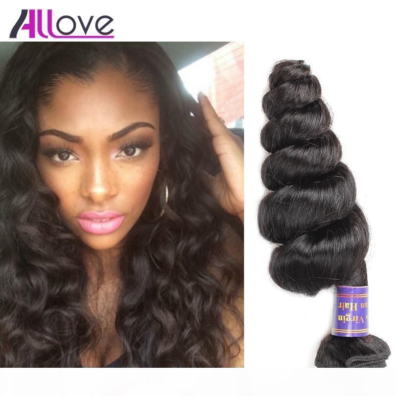 Brazilian virgem cabelo solto onda 4 pcs bom 8A não processado cabelo humano brasileiro tece pacotes naturais negros atacado para mulheres negras