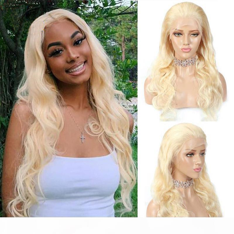 Capelli brasiliani 613 Colore parrucche anteriori in pizzo a colori Bionda Bionda Full Pizzo Capelli Umani Parrucche per capelli umani precipitata naturale