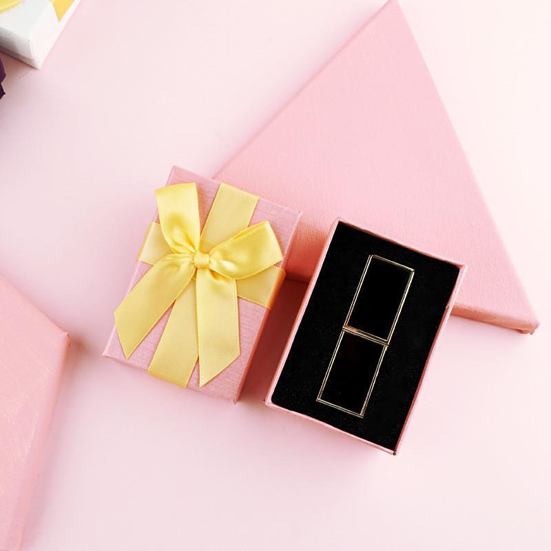 Valentin Rouge à lèvres Enroulement Coque Rouge Pink Papier Blanc Bijoux Lèvres Boutique Coffret cadeau avec Big Bowknot DHB3884