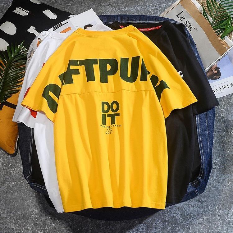 E-BAIHUI 2021 Summer Tide T-shirt da uomo T-shirt da uomo con scollo rotondo Casual Shirt da uomo a maniche corte Shirt stampata per conto del 1945