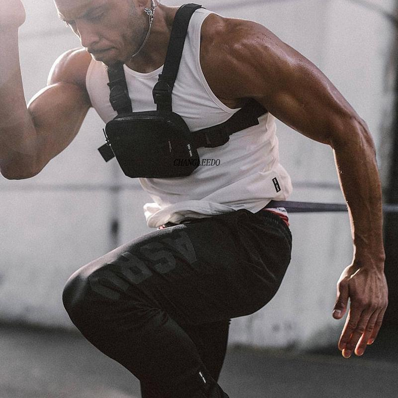 2019 Mini Men Rig Streetwear Outdoor Sports Waist Military Climbing Shoulder Phone Money Belt Tactical Chest Bag Q1221