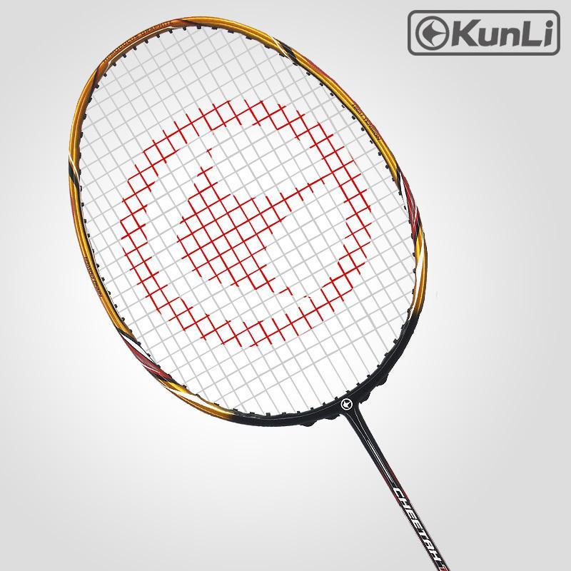 Frete Grátis 100% Original Kunli Badminton Cheeth T9 Full Carbon Professional TB Nano Technology Feather Racket Z1202
