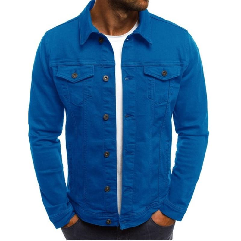 NOUVEAU Hommes Designer Jacket Spring Automne à manches longues à manches longues col solide manteau de couleur massif de mode décontractée