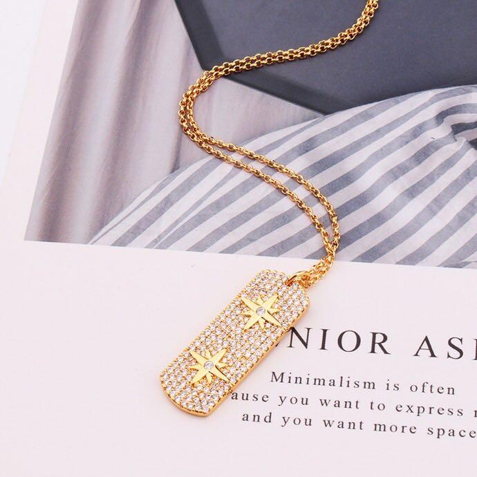 Street ins womens gold necklace hip hop bling bling iced out chains gold filled jewelry mens gold chain pendants fahsion necklace