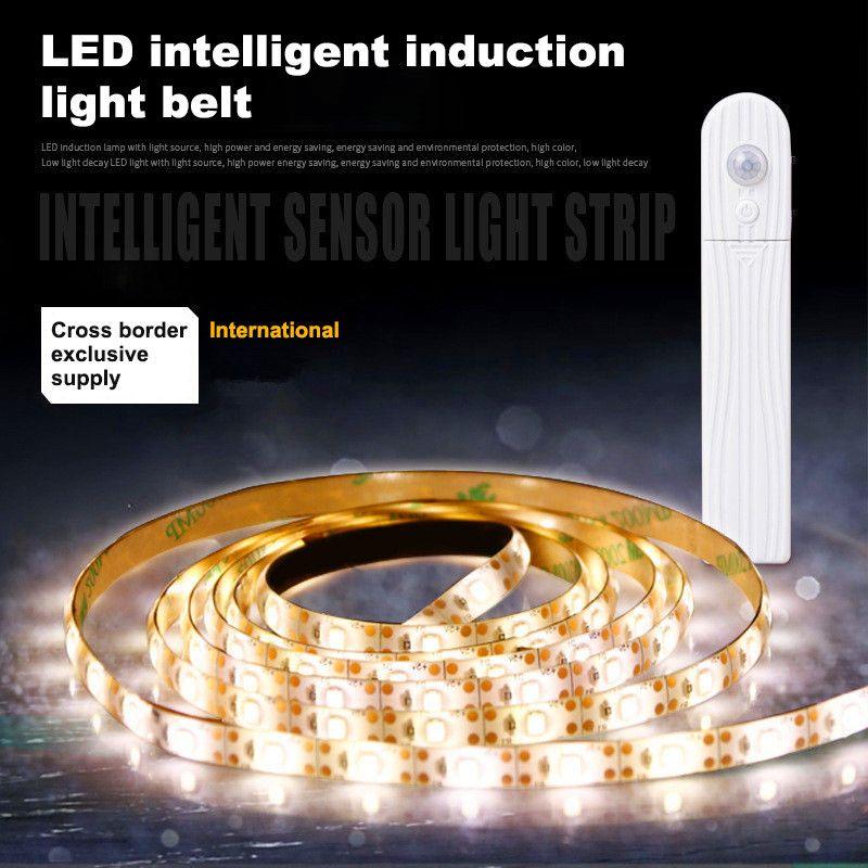 Venda quente 5M USB Tira levou Stripe Luz Waterproof Tape Lamp flexível Sensor de Movimento Cozinha Closet Cabinet Stair Night Light Led Lamp Faixa