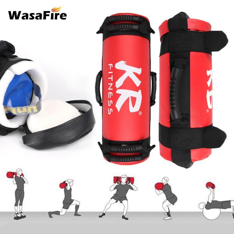 Saco ponderado de 10-20kg pesado saco de areia com alça para o ginásio Indoor Fitness Força Treinamento Muscle Exercício Powerlifting