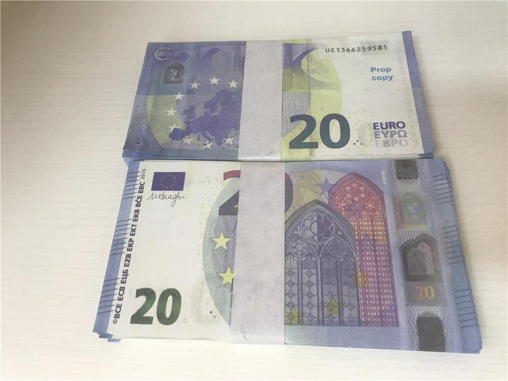 2021 Cross-Bordure HOT-Selling Movie Mody Euro 20 Copier Copier Banknote PROP ARGENT EUR 100 PCS / PACK 018