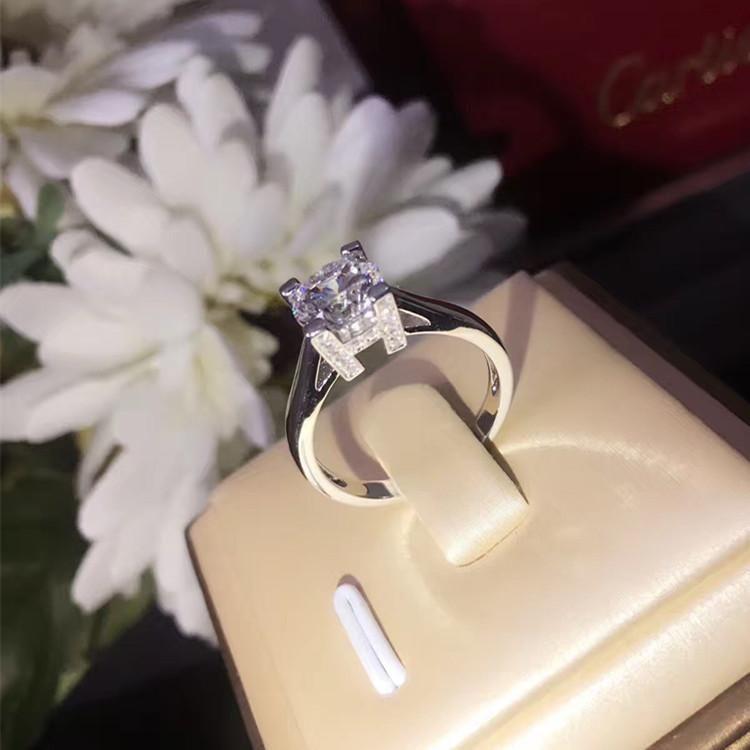 Crystal féminin mignon zircon bague de fiançailles d'argent couleur gros doigt de pierre bague vintage bagues de mariage pour femmes bijoux de mode