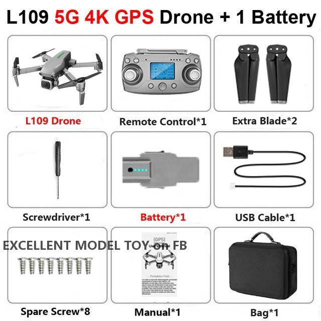 L109 4K HD-elektrische Einstellkamera 5G WiFi FPV-Drohne, GPS-Lichtstromposition, 1000 m RC-Abstand, bürstenloser Motor, Smart Follow, 3-2