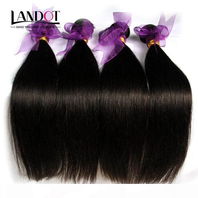 Capelli diritti brasiliani 4 bundle senza trucco dei capelli umani weaves a buon mercato Malesian indiano indiano peruviano peruviano remy estensioni di capelli naturale