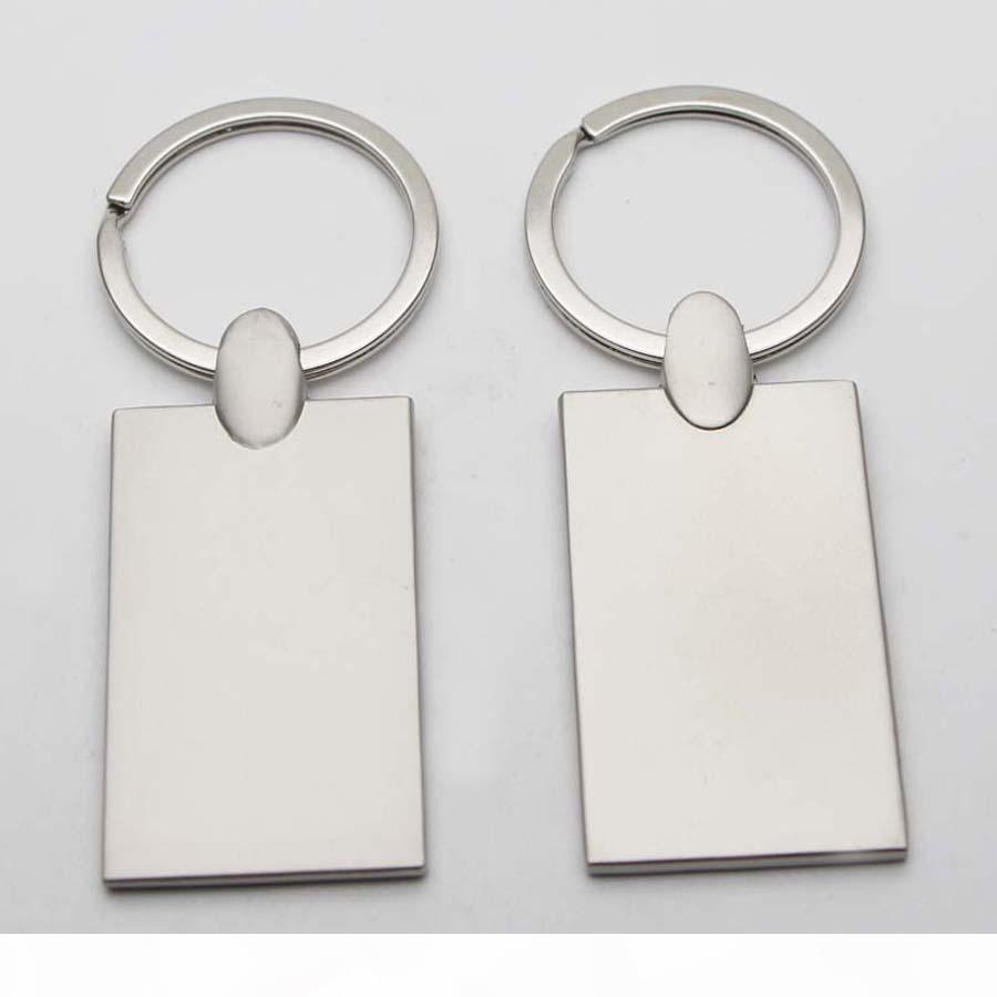 Personalisierte Foto-Schlüsselanhänger leerer Metall Rektangel Schlüsselanhänger benutzerdefinierte bild schlüsselanhänger KM01c Drop Shipping