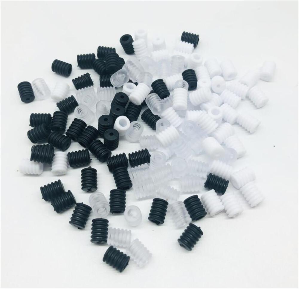 100 pcs / pacote adulto crianças ajustável silicone fio faixa de silicone não deslizamento rolha colorido cordão fivela cordilhões ativa acessórios