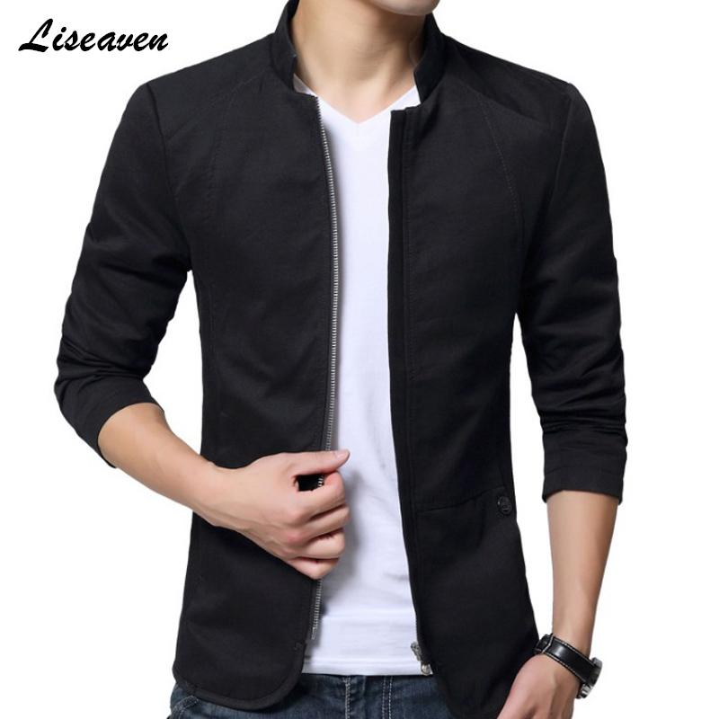 Jacket Liseaven Homens Moda Casual Jacket Mens Sportswear exterior coat Bomber superior Mens casacos Coats Plus Size M- 5XL 201119