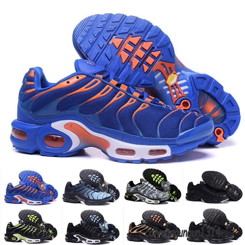 Vapormax Descuento de alta calidad deportes zapatos para correr al aire libre Nuevo TN Hombres Black White Red Mens Runner Transpirable Sneakers Hombre Entrenadores Tenis 40-46 C34