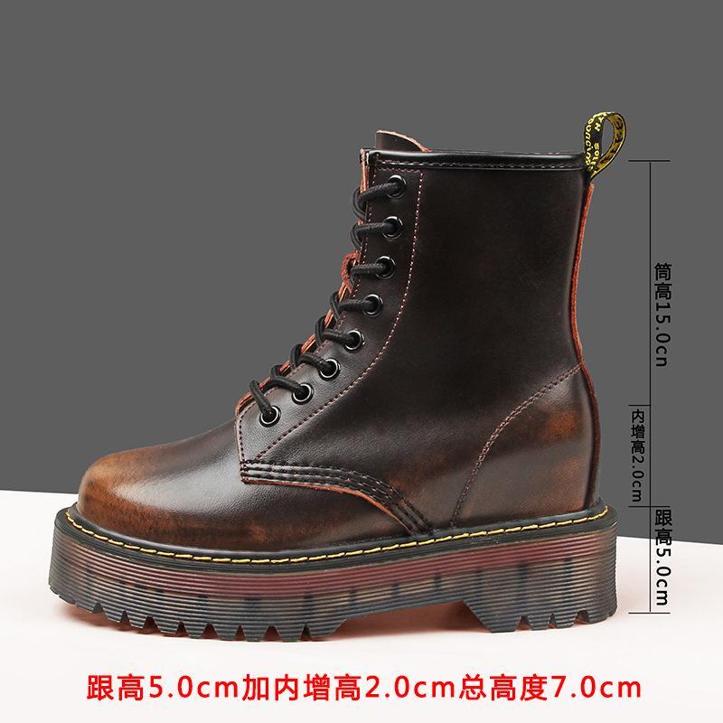 Buenas botas VV Cálculo de cuero genuino de primera calidad Botas para mujer Botas de nieve GND Botas de invierno Piel de invierno Zapatos de mujer cómoda