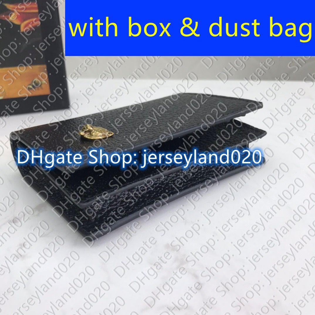 Card Bi-Fold Web Case Designer MENS Wallet Organizer Umschlag Leder MINI Multiple Pocket Marmont Card Business 428737 Halter Geld CL Akgj