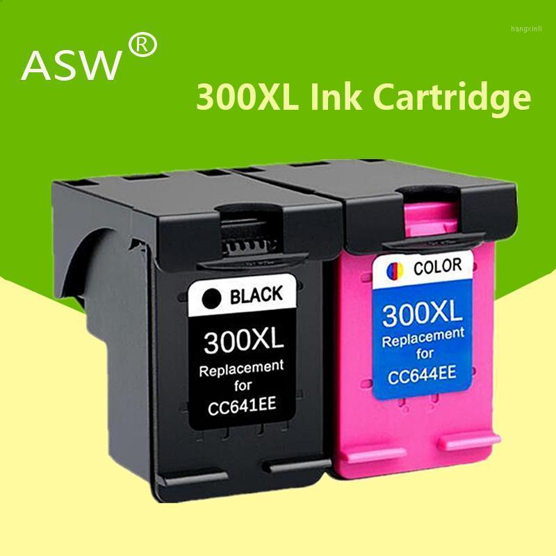 ASW 2PK Compatible pour la cartouche 300XL 300XL 300 encre pour Bureau D1660 D2560 D2660 D5560 F2420 F2480 F2492 F4210 Imprimante1