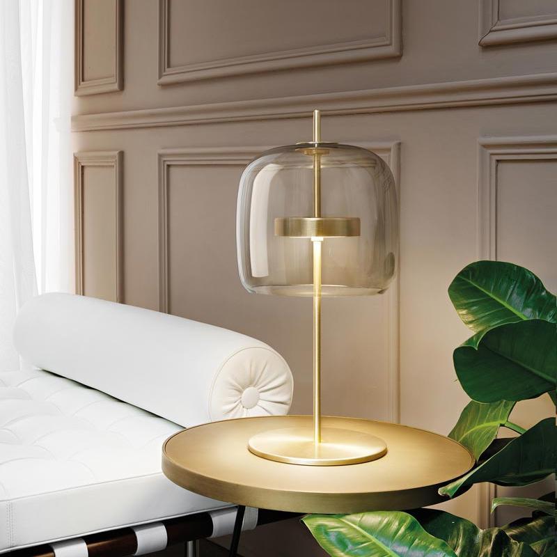 Nordic Gla Tischlampe Einfache Bibliothek Wohnzimmer Schlafzimmer Esstisch Licht Creative Designer Bett Side Table Lampe