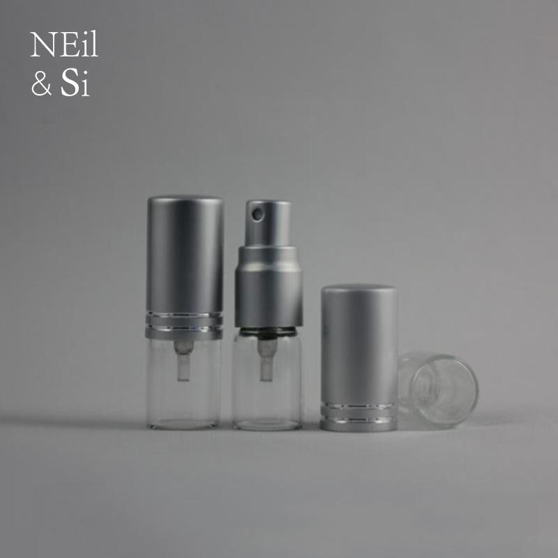 Bouteille de pulvérisation de verre de verre 3ml rechargeable conteneur de parfum de parfum vides cosmétiques pulvérisateur d'eau atomiseur argent clair