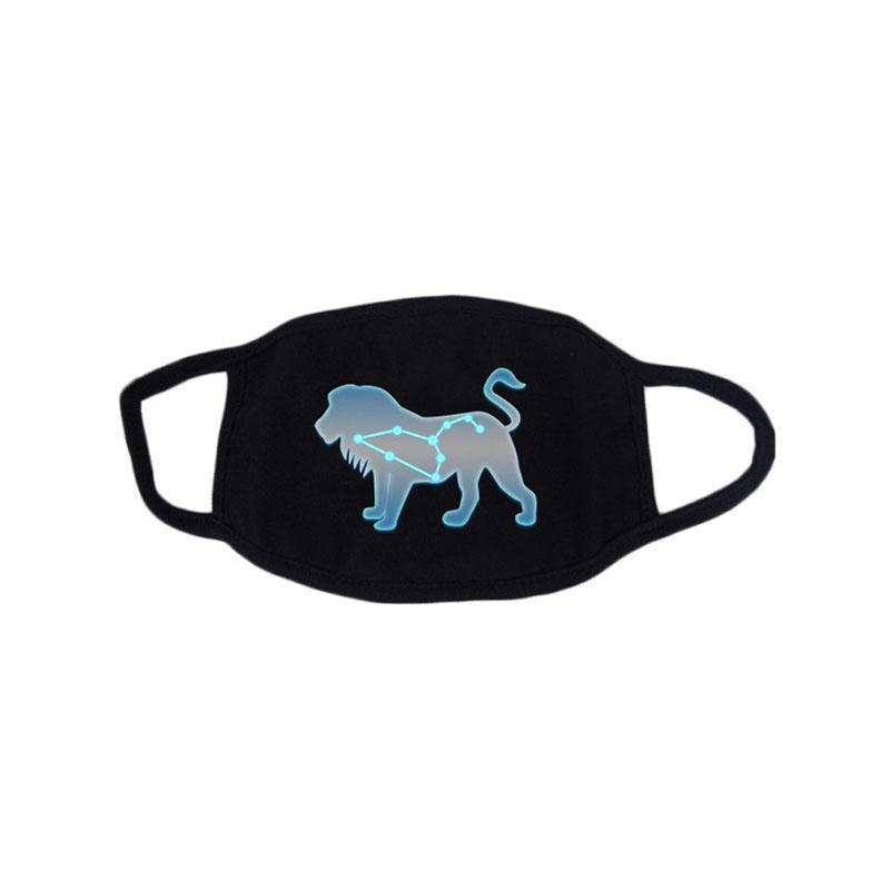 Constellation Fluorescent Mask Fashion Face Mask Cotton Reusable Face Masks Out Porta Sport Sport Maschere da equitazione Designer Face Mask GH1170-1