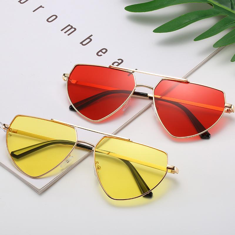 2020 New Shuangliang Piece Ocean Piece Нерегулярное многоугольники любят модные солнцезащитные очки универсальные женщины
