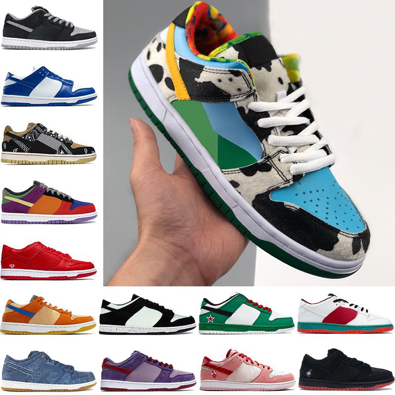 2021 Novos Melhores Homens Basquetebol Sapatos Chunky Dunky Travis Scotts Sombra Kentucky Multi Cor Low Mens Trainers Mulheres Sneakers US 5.5-11