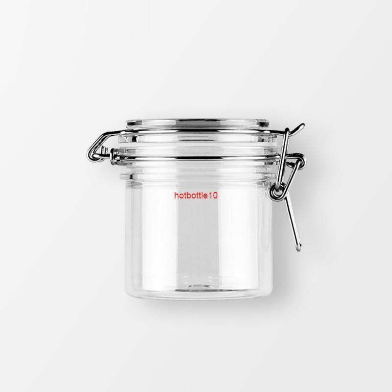 200г 1 шт. Пустые круглые пластиковые герметичные оловянные контейнеры CLIP крышки, хранение корней для пищевых банок, маска для крем-контейнера бутылки