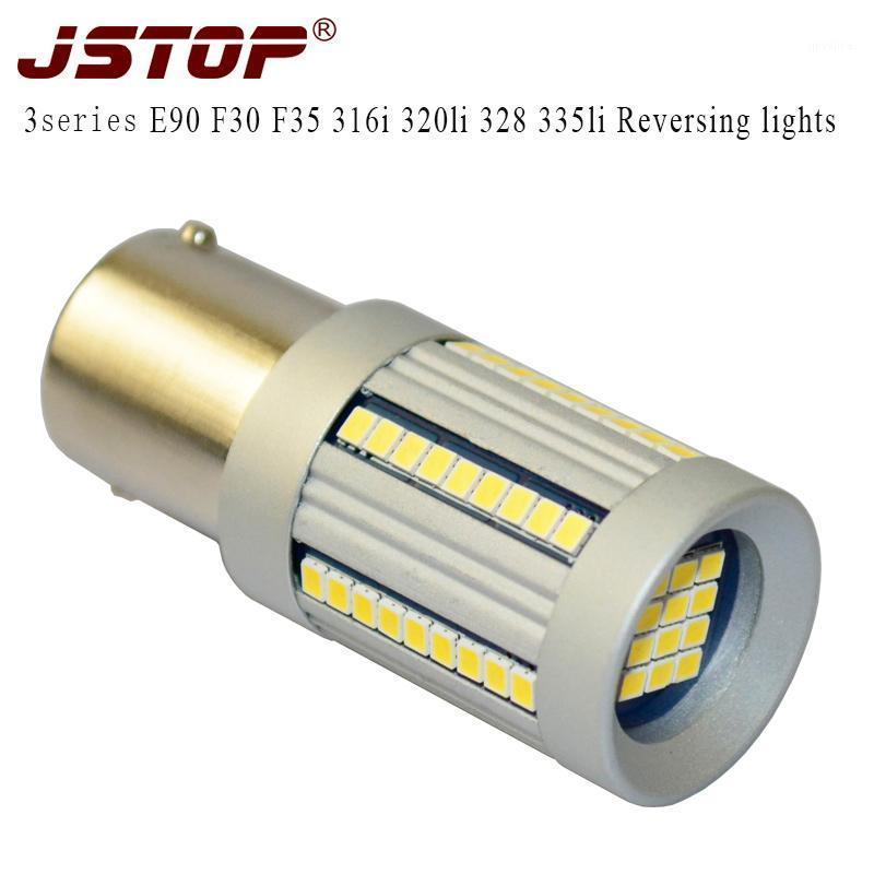 Acil durum ışıkları JSTOP 3'ler E90 F30 F35 316i 320LI 328 335LI LED Geri P21W 6000 K Lamba 12 V BA15S 1156 Oto Canbus Ters Ampuller1