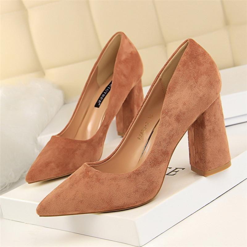 Block Heel Schuhe Elegante Schuhe Für Frau Dicke Ferse Damen Pumps Kleid Frauen Koreanischer Stil Sexy High Heels Buty Damskie