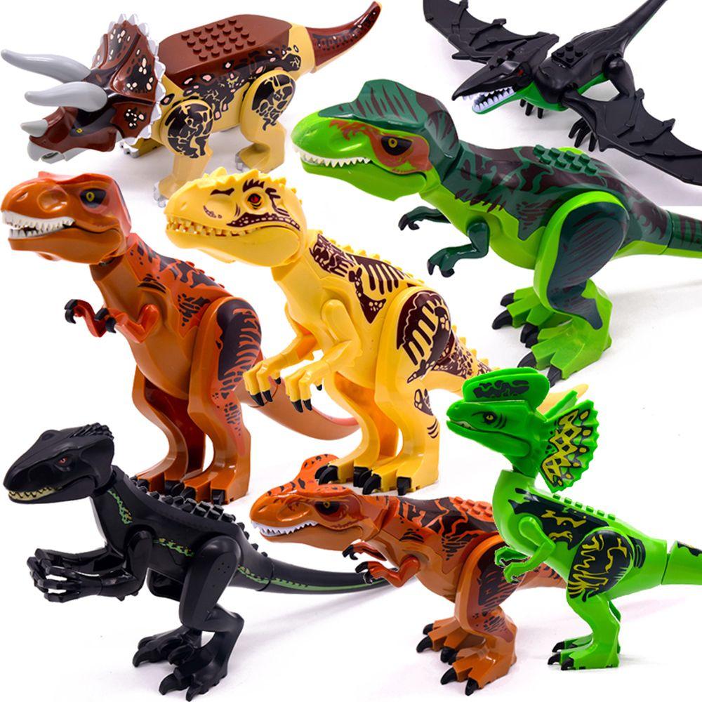 Jurassic World 2 Динозавр Брутальный Raptor Minifig Фигурки Армия Совместимые Строительные Блоки Мини Кирпичи Дино Автомобиль Игрушки для детей Мальчиков