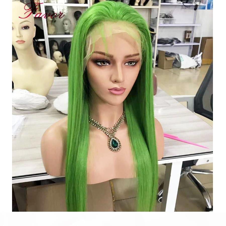 150% Vert Human Hair Perruque 13x6 Brésilien Remy Brésilienne Dentelle Dentelle Avant Perruque Ombre Perruques pour Femmes Prequa