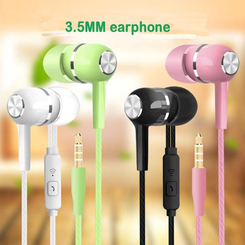 도매 3.5mm 이어폰 원격 볼륨 컨트롤이 귀에 전형 헤드셋 태블릿 안 드 로이드 휴대 전화에 대 한 마이크가있는 헤드셋