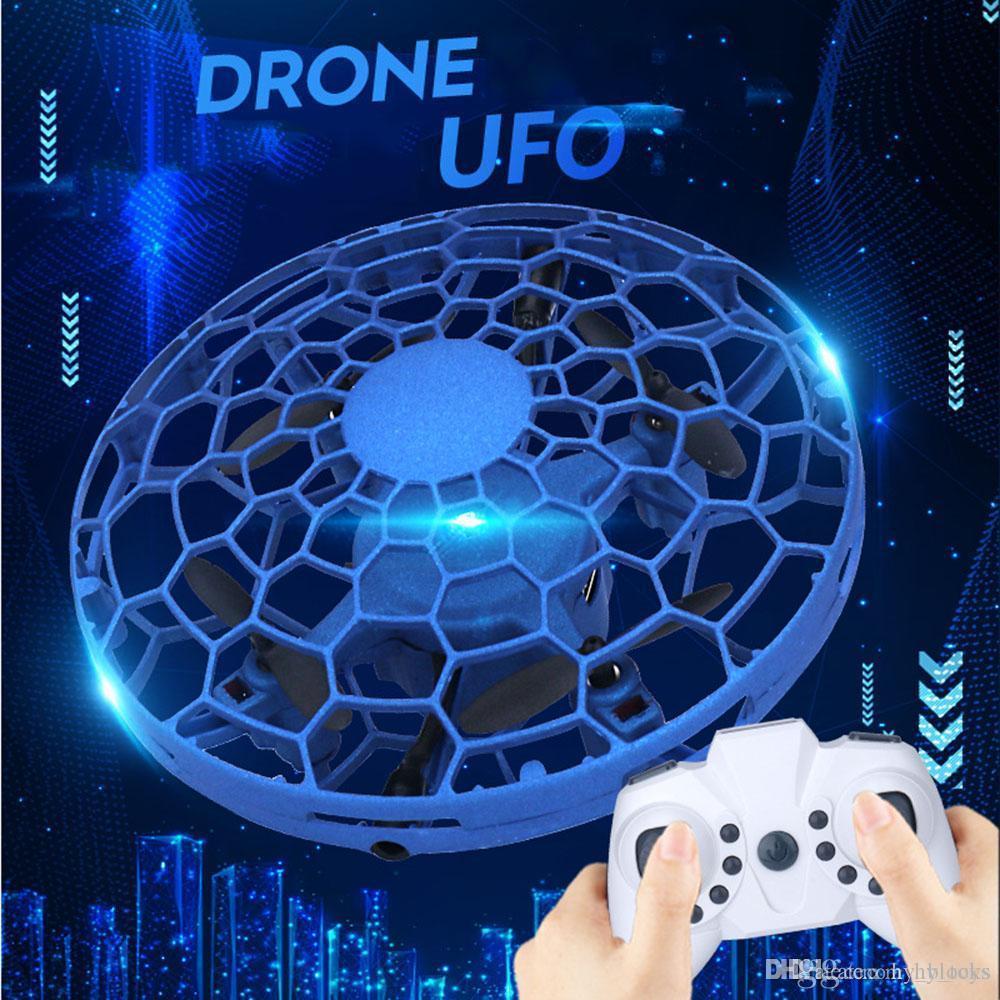 Mini UFO Drone intelligent de détection à induction magique Gesture Montre poignée télécommande avion RC volant balle hélicoptère Boy Toys