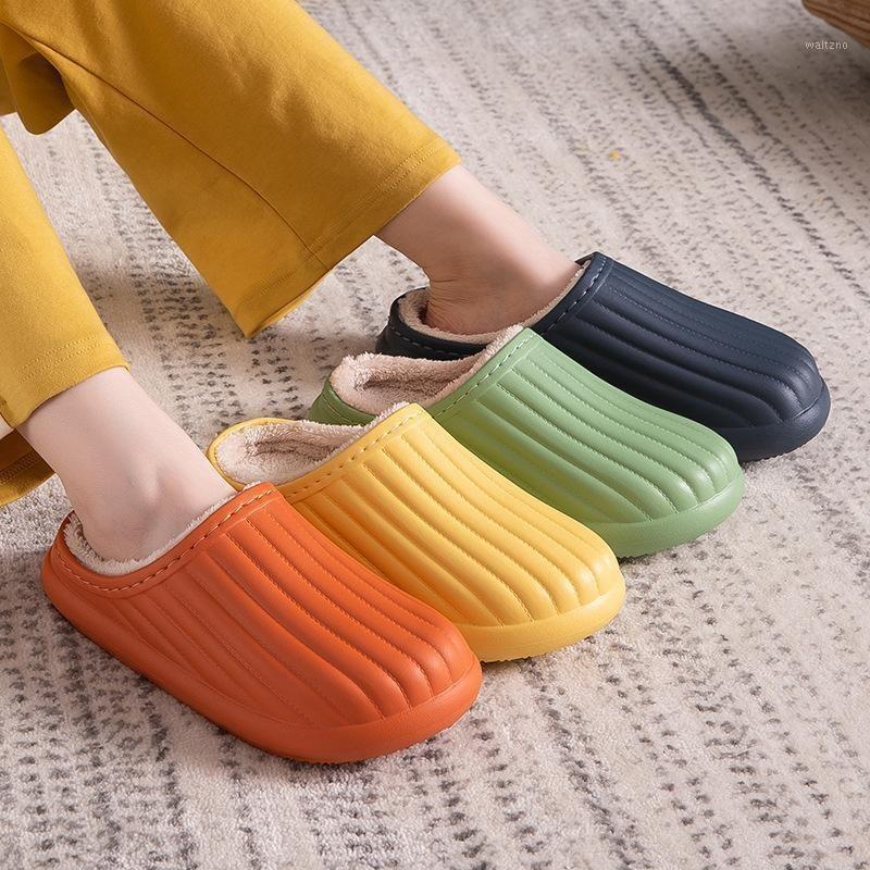 vertvie Women EVA Slippers Winter Warm Women Suede Plush House Slippers Indoor Outdoor Lovers Cotton Zapatillas Mujer1