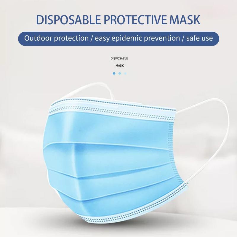 50 Livraison gratuite Masque jetable PROTECTION PROTECTION ET MASQUE DE SANTÉ PERSONNELLE MASQUE DE TROIS COUCHES AVEC SHORIEN AVEC SHART