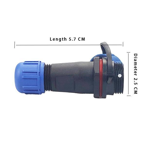 20 sets Conector impermeable GM1710 P / 4P 5A 5A SOLDADOR O SOLDADOR DE TORNILLO Conector macho y hembra