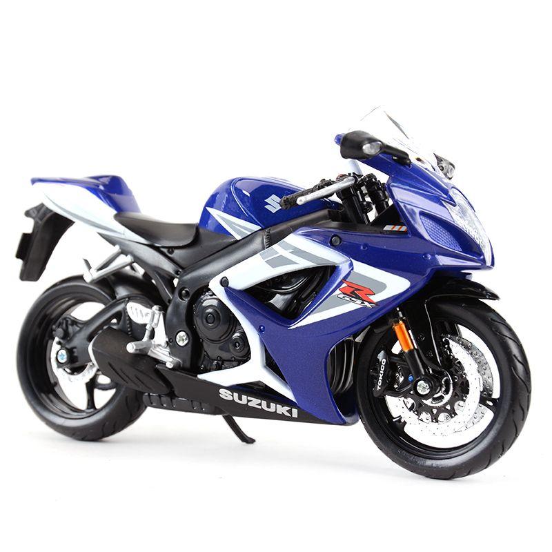 Maisto 1:12 Suzuki GSX-R750 Die Döküm Araçları Koleksiyon Hobiler Motosiklet Model Oyuncaklar Y1130