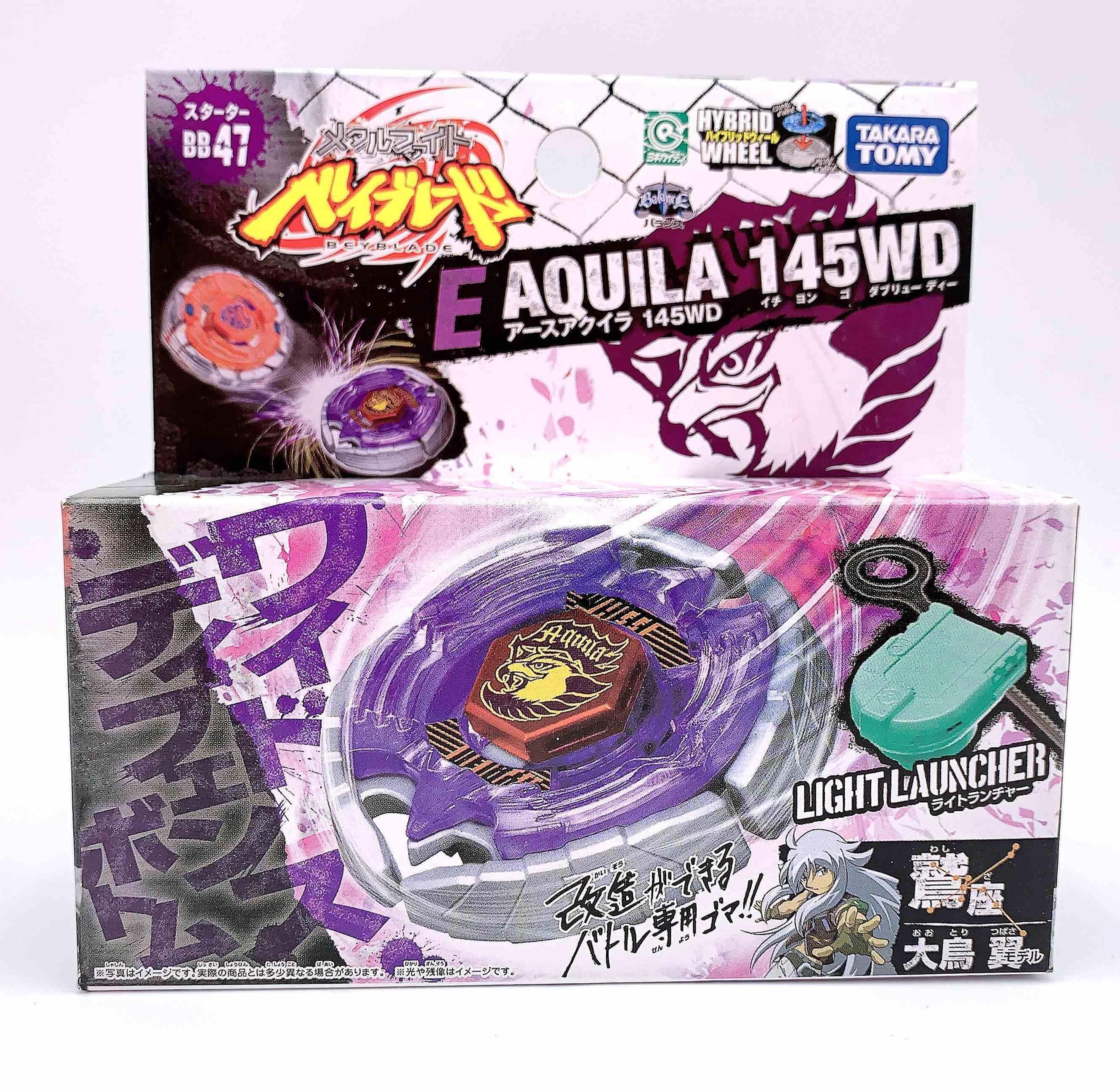 2020 Takara Tomy Japan Beyblade Fusion De Metales BB-47 Aguila Tierra Aquila 145WD Lanzador كما لعب الأطفال Y1130