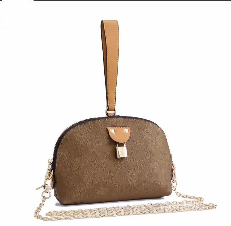 Hombro Nueva moda diseñadora europea El bolso del cuerpo americano El paquete de la cruz del bolso y la cadena MS semicírculo Moksq