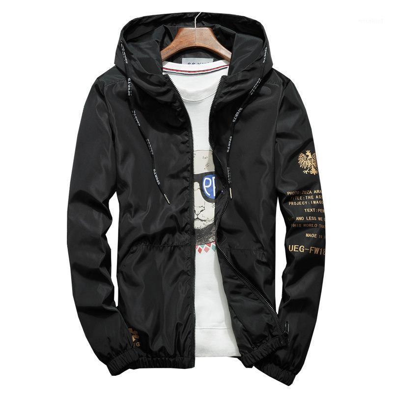 Мужские куртки 8XL осень мужская куртка бренд черный повседневный с капюшоном свободного бомбардировщика мужская ветровка пальто тенденции хип-хоп уличная одежда; Ya0331