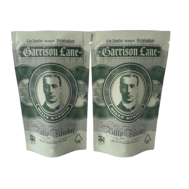 Nuovo 3.5G Garrison Lane odore borse a prova di sacchetti sapori Billy Kimber Bambino Prova di Bambino Stand Up Sacchetto Asciugamano Asciughi Imballaggio di fiori di erbe