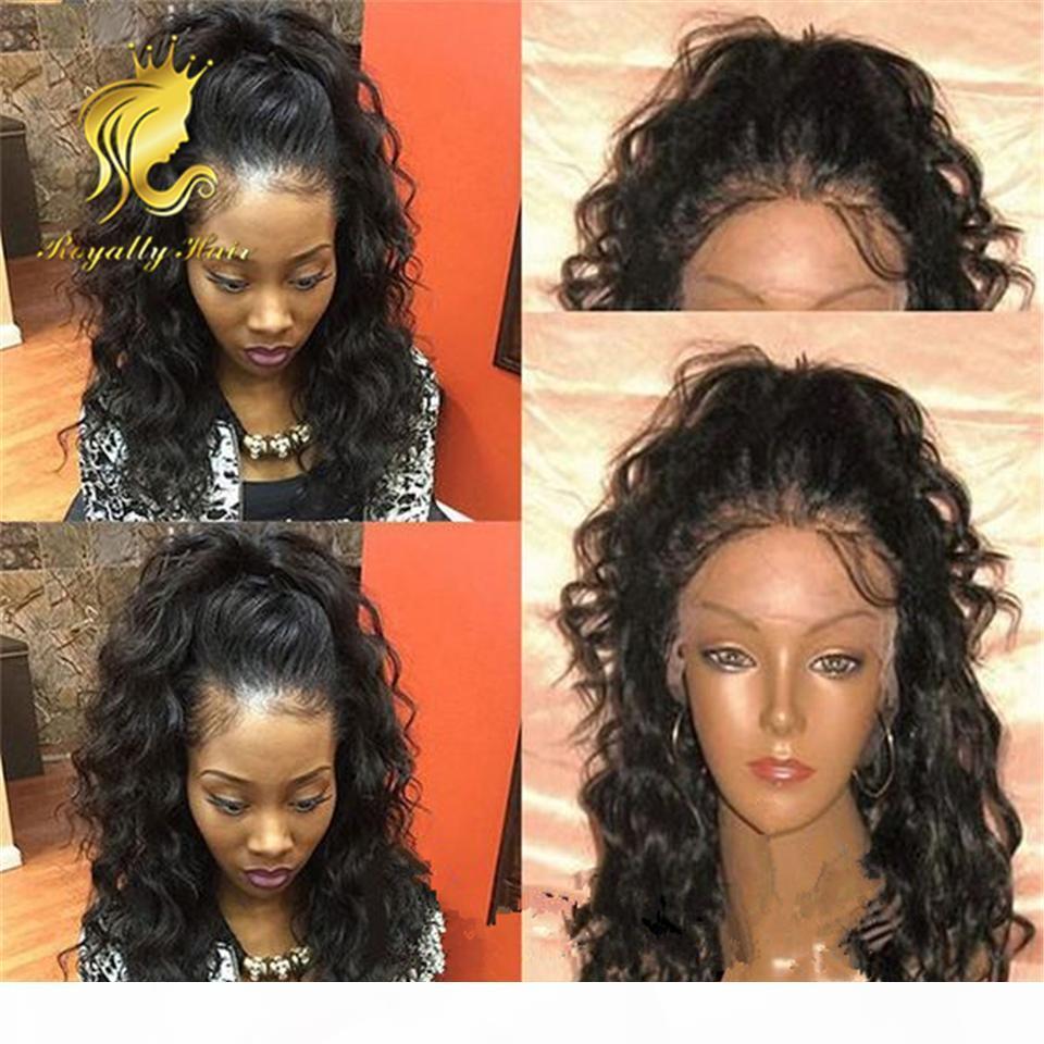 180% Densité Body Wave Malaisien Dentelle Dentelle Front Human Hair Perruques pour femmes noires Perruques pleines de dentelle sans gluge