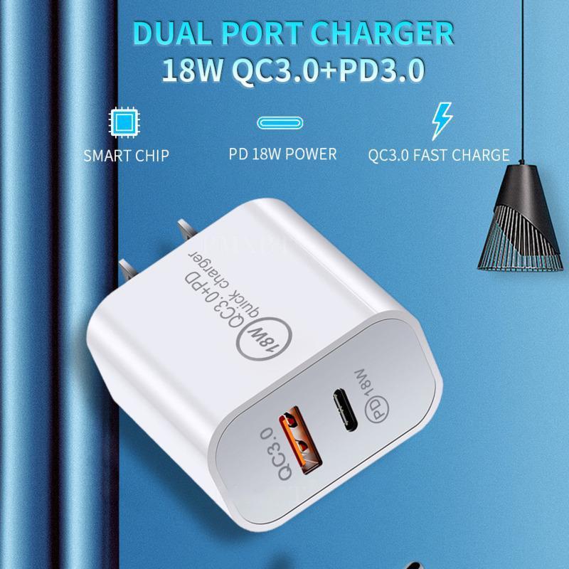 18W 20W FAST USB 충전기 빠른 충전 유형 C PD for iPhone EU US 플러그 QC 3.0 전화