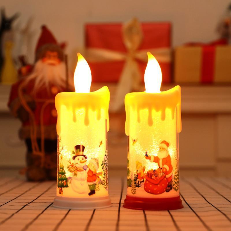 Décorations de Noël Garden Coupe électronique Simulation électronique Lampe de décoration des accessoires Décor pour l'ornement à la maison